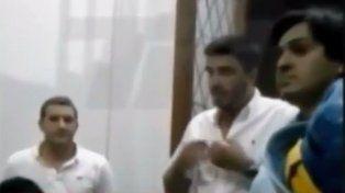 El jefe comunal de Olavarría en una captura del video que se difundió hoy.