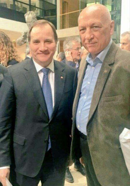 Bonfatti junto a Stefan Löfven