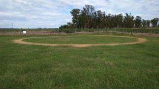 misterio. Uno de los círculos perfectos en un campo cercano a la ruta 7.