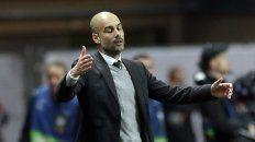 Esta vez no.El DT del City sufre el partido que el Mónaco ganó 3 a 1.