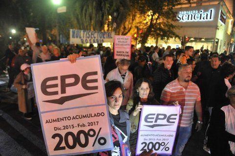 movilización. El ruidazo se concentró en Rosario en Br. Oroño y Córdoba. Críticas a Nación y provincia.