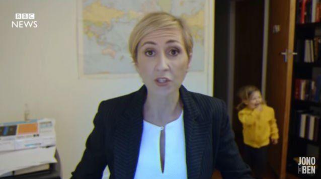 El programa de televisión de Nueva Zelanda Jono and Ben Comedy parodió el momento bizarro de la BBC.