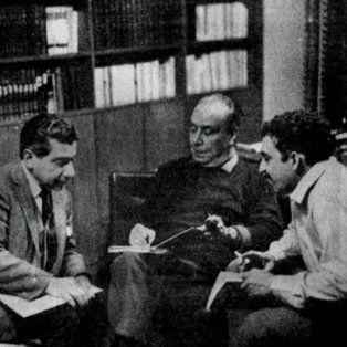 En Buenos Aires. Roa Bastos, Marechal y García Márquez, en 1969.