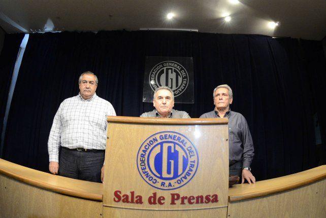 triunvirato. Los secretarios generales de la CGT