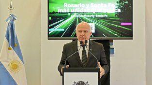 Lifschitz anunció esta semana la construcción de un tercer carril en la autopista Rosario-Santa Fe.