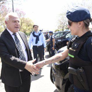 Apuesta. Miguel Lifschitz y su ministro de Seguridad, Maximiliano Pullaro, confían en el accionar policial.