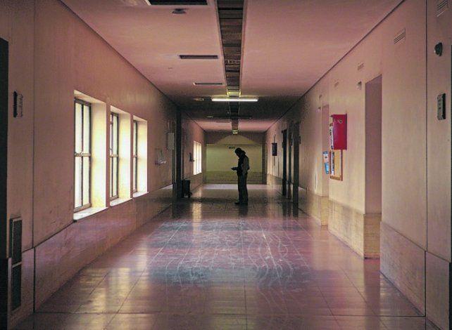 Los pasillos de Tribunales Provinciales de Rosario.