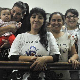 Lorena, Gabriela, Vanesa y Soledad, integrantes del grupo Locas de Amor