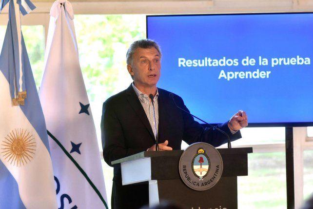 El presidente presentó en la Quinta de Olivos los resultados de las pruebas Aprender.
