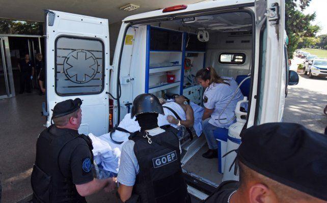 Macaco Muñoz fue herido en el ataque de ayer y hoy fue trasladado desde el Policlínico Eva Perón hacia la cárcel de Coronda.