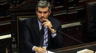 agitada exposición. Marcos Peña dio su primer informe del año en la Cámara baja y confrontó con diputados del FpV y del massismo.