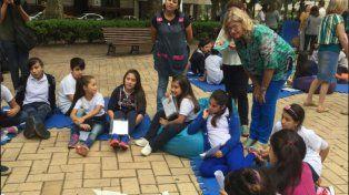 la ministra Balagué participó de Tertulias de lectura con La Torre de Cubos