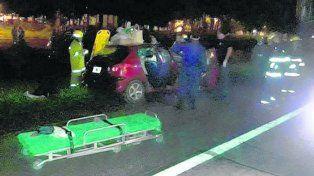 Cerca de Hersilia. El accidente ocurrió en la medianoche de ayer.
