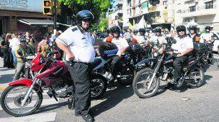 protesta. Inspectores de las áreas de control se sumaron a la marcha.