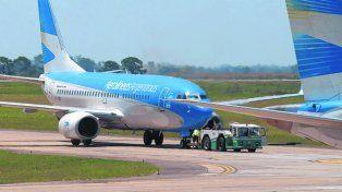 línea de bandera. Aerolíneas busca conectar a Rosario con el país.