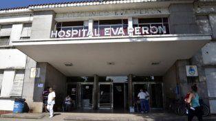 Eva Perón. Tras el frustrado parto respetado, la mujer fue trasladada a este hospital; el bebé ya había fallecido.