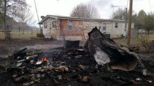 La casa del hombre que inició el incendio en el que unas 280 hectáreas resultaron afectadas.