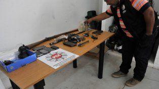 Secuestro. La Policía de Investigaciones (PDI) de la provincia en un reciente operativo, donde se incautaron armas y municiones en una causa por tentativa de homicidio.