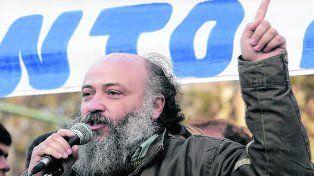 Líder piquetero. Emilio Pérsico, del Movimiento Evita, le pidió al gobierno que rectifique su política económica.