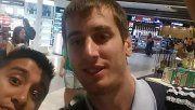 La víctima, de 28 años, en una foto que se tomó la semana pasada, cuando arribó a Río.