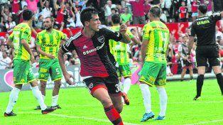 El último gol de un defensor. Nehuén Paz facturó en el 1 a 1 ante Aldosivi en abril del año pasado.