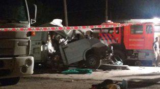 La imagen del fatal accidente.