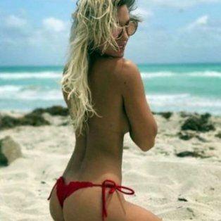 la foto que instagram le bajo a noelia marzol por posar en topless y microtanga