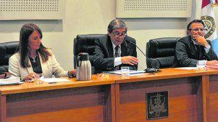 tribunal. Los jueces María Isabel Mas Varela, Julio Kesuani e Ismael Manfrín darían a conocer el veredicto mañana.