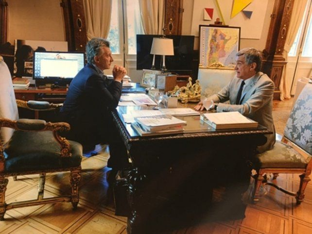 mano a mano. Macri recibió a Boasso en el despacho presidencial.