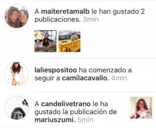 Lali Espósito puso un dedito de más y comenzó a seguir a Camila Cavallo en Instagram