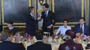 cena y brindis. Macri y Rutte intercambiaron elogios.