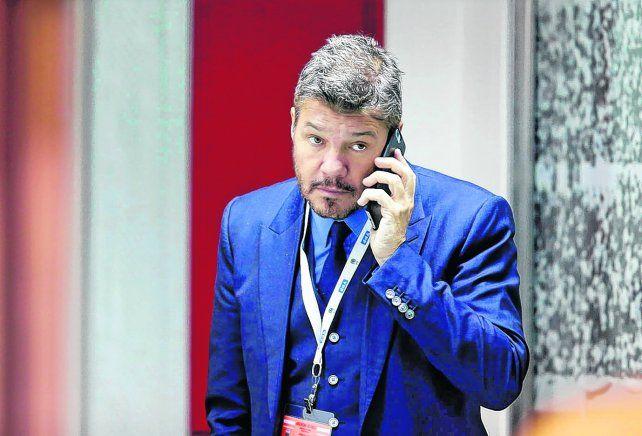 Desencajado. Al dirigente de San Lorenzo se lo vio muy dolido en el estadio Hernando Siles.