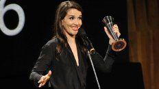 natalia oreiro gano como mejor actriz por gilda en los premios sur