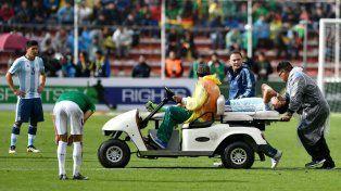 Funes Mori salió lesionado en el partido frente a Bolivia en la altura de La Paz.