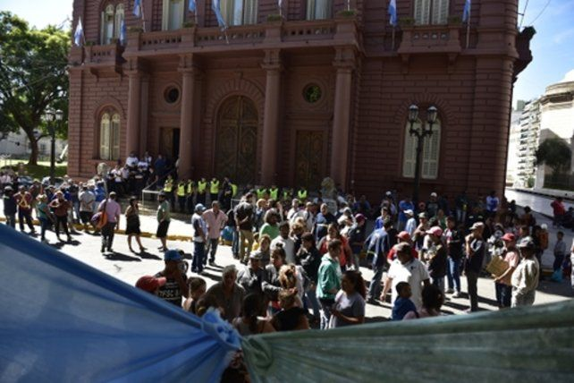 Enfado. Los carreros montaron una ruidosa protesta.