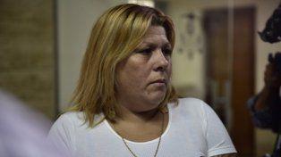 ex esposa. Lorena Verdún se enojó mucho con el fallo absolutorio.