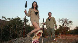 Vannucci se instaló en Estados Unidos desde que se difundieron sus fotos en un safari de caza.