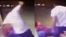 las camaras de seguridad registran el brutal ataque del que fue victima una mujer