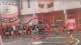 El momento de la salvaje agresión al técnico de futsal que murió luego de cuatro días en coma.