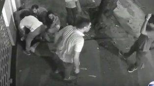 Los momentos posteriores al golpe que resultaría fatal para Matías en Río de Janeiro.