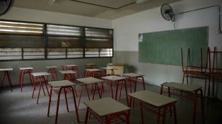Las aulas vacías durante los días de paro.