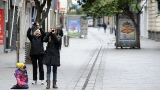 Desierta. Esta postal de la peatonal Córdoba sin dudas se repetirá.