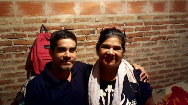 Juntos otra vez. Fabián Medina y su madre Esther Baldovino