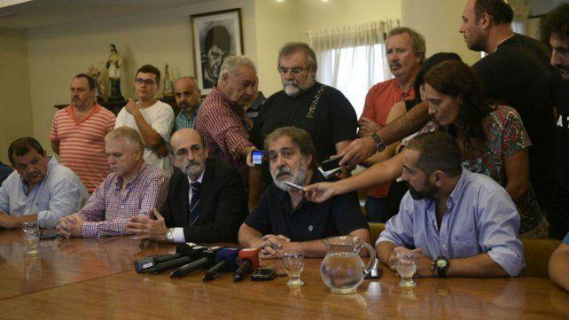 Carmona y Layús encabezaron la conferencia de prensa esta mañana.