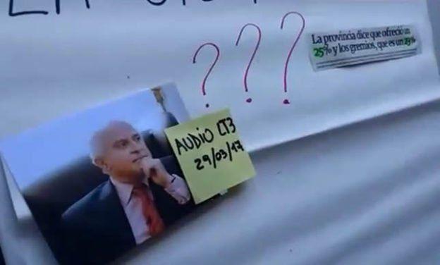 Sadop insiste a través de un video que el aumento del gobierno provincial no llega al 25 %