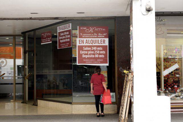 Los locales comerciales cerrados en Rosario son alrededor de 2.200.