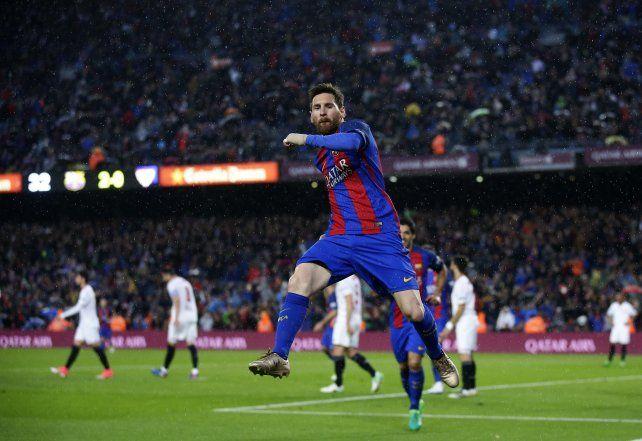 Messi convirtió dos goles y lideró el show de Barcelona ante el Sevilla de Sampaoli