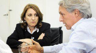 La intendenta Fein con Marcelo Orfila