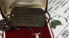 un excombatiente de malvinas recupero su placa identificatoria, que estaba en poder de un ingles