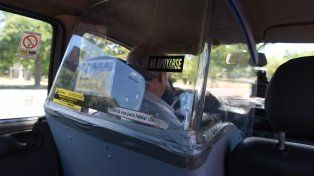 Los taxistas adhirieron en su gran mayoría al paro.
